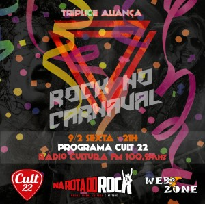 Cult 22 - Flyer Triplice Aliança -  Especial de Carnaval 2018 - 9.2.2018