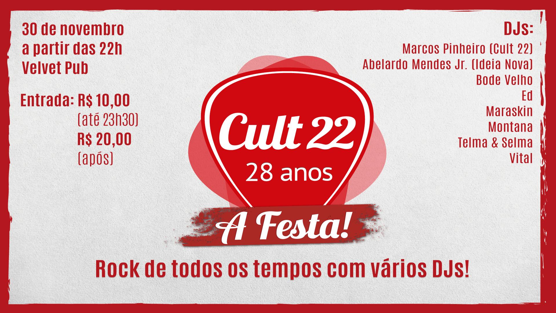 CULT 22 - 28 Anos (capa evento Facebook com DJs)